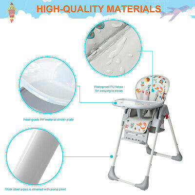 New Baby High Foldable Convertible Table Seat Booster Toddler Feeding Highchair 9
