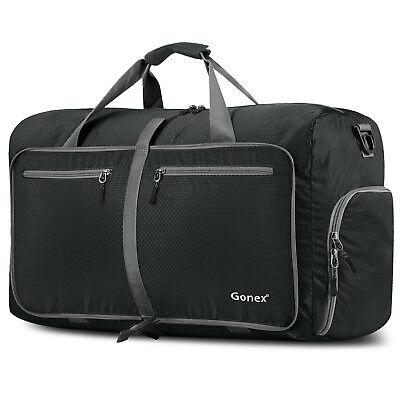 Gonex 80L Travel Duffle Bag Foldable Tear Resistant Carry-On Luggage Bag Storage 5