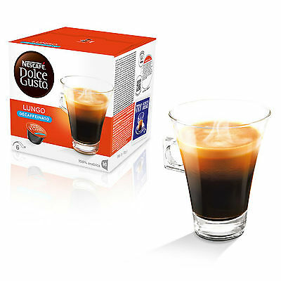 Dolce Gusto Lungo Decaff Coffee (3 Boxes,Total 48 Capsules ) 48 Servings 3