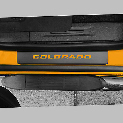Door Sill Plate Protectors Black fits 2012-2020 GMC Canyon Truck