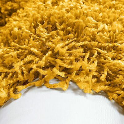 5cm HIGH PILE SMALL LARGE PREMIUM QUALITY SHAGGY RUG OCHRE YELLOW MUSTARD GOLD 2