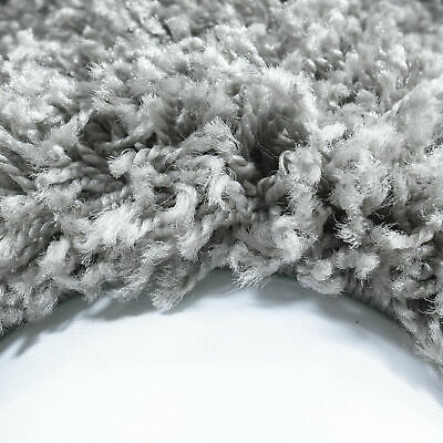 5cm HIGH PILE SMALL EXTRA LARGE PREMIUM QUALITY NON SHED SHAGGY RUG LIGHT GREY 2