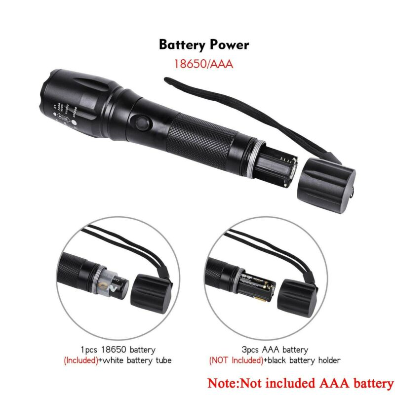 Rechargeable 350000LM Flashlight CREE T6 LED Tactical Bike Light Torch Headlamp 8