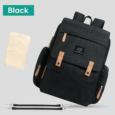 Large LAND Mommy Baby Diaper Bag Backpack with Stroller Hook and Changing Pad 6