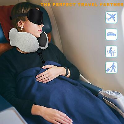 Memory Foam U Shaped Travel Pillow Neck Support Head Rest Airplane Cushion 6