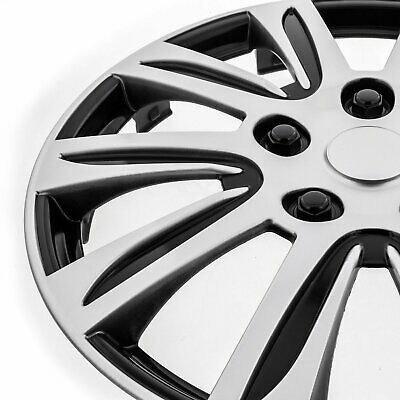"""Set of 4 Hubcaps 16/"""" Wheel Cover Marina Bay Silver ABS Quality Easy To Install"""