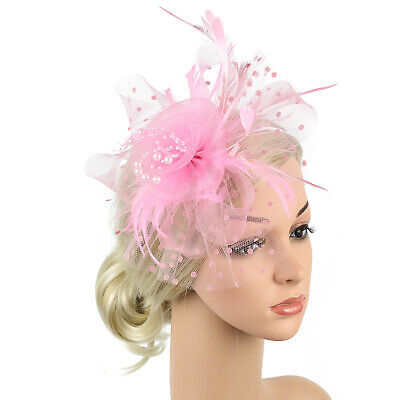 Ladies' Day Fascinator Hat Cocktail Tea Party Headband Women Wedding Hair Clip 2