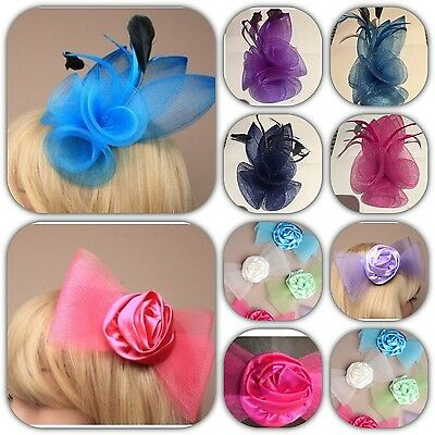 Hair Fascinators on Comb Clip or Headband Wedding Prom Christmas Party Races 3