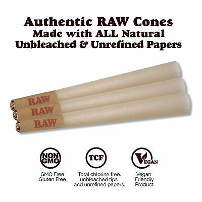 RAW 81 Organic 1 1/4 Cones, Pure Hemp 1.25 84mm Pre Rolled, W Gallery Box 2