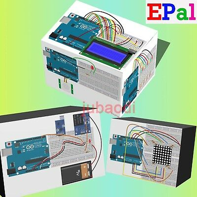 EPAL Professional UNO R3 Starter Kit for Arduino LCD Compass Gyro Processing AU 3