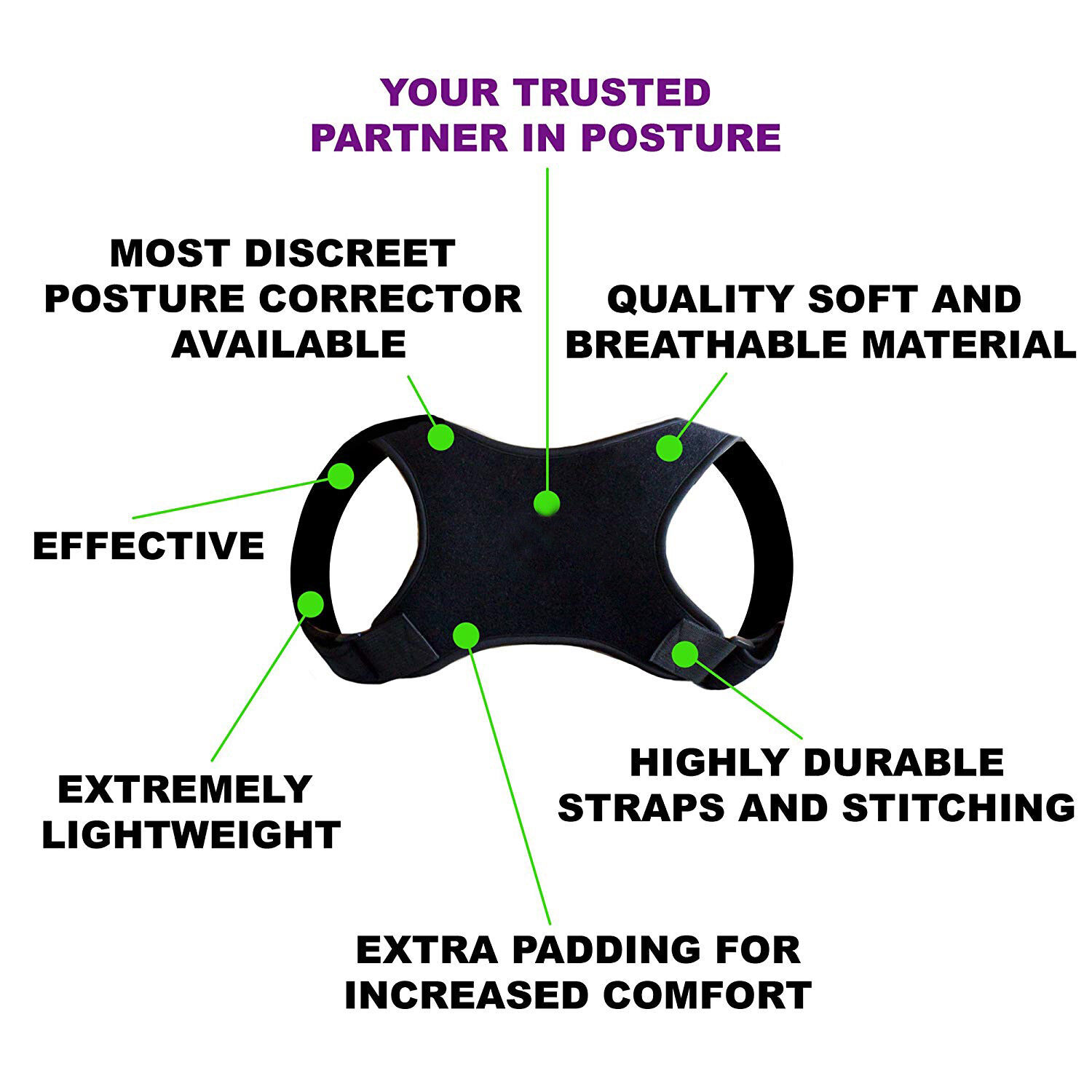Posture Corrector Women Men Shoulder Brace Back Support Strap Belt Adjustable AU 7