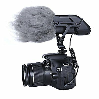 """Movo WS2 Furry Outdoor Shotgun Microphone Windscreen Muff (Fits up to 3"""" X 80mm) 2"""