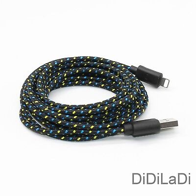 1/2/3M Braided Lightning USB Charger Data Sync Cable For iPhone 6 7 8 Plus X XR 9