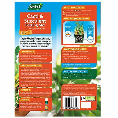 Westland Cacti and Succulent Potting Compost Mix Enriched with Seramis 4L 2