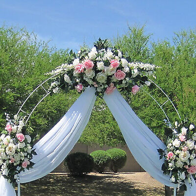 7 5ft White Metal Arch Wedding Garden Bridal Party Decoration Prom