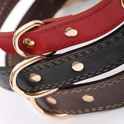 PU Personalized Dog Collars Name ID Collar with Nameplate Engraved XS-XL 9