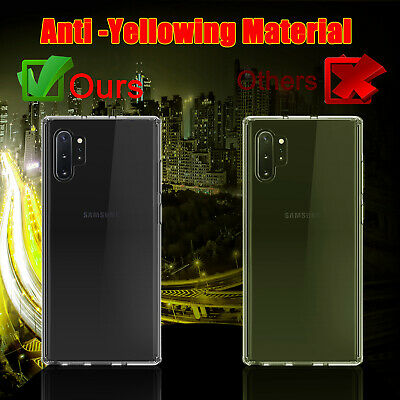 For Samsung Galaxy Note 10+ Plus 5G Clear Case With Full Cover Screen Protector 9