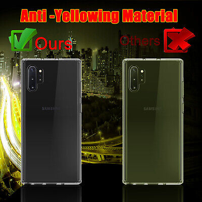 For Samsung Galaxy Note 10+ Plus Pro Hybrid Crystal Clear Armor Phone Case Cover 8