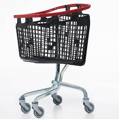 Red Shopping Trolley Small Supermarket Cart Araven Loop Trolley 100L 2