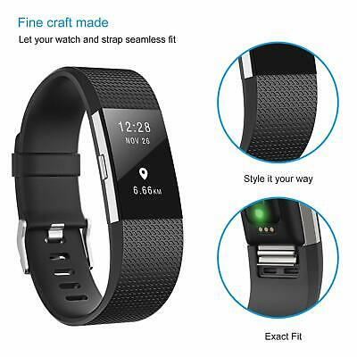 For Fitbit Charge 2 Strap Sports Wrist Band Silicone Replacement Small Large 10