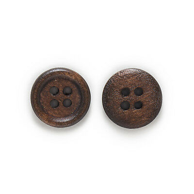 50pcs 4 hole Wood Buttons for Sewing Scrapbook Clothing Crafts Gift 15mm 4