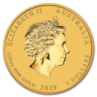 2019 Australia 1/20 oz Gold Lunar Pig BU - SKU#171739 2