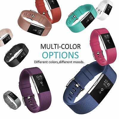 For Fitbit Charge 2 Strap Sports Wrist Band Silicone Replacement Small Large 8
