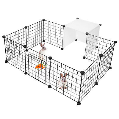 14-Panels Dog Rabbit Pet Playpen Cage Metal Wire Yard Fence for Small Animals 2