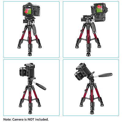 Neewer Red Mini Travel Tabletop Camera Tripod 62cm with 3-Way Swivel Pan Head 5