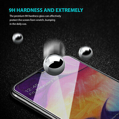 Samsung Galaxy A20 A30 A50 Premium Full Cover Tempered Glass Screen Protector 4