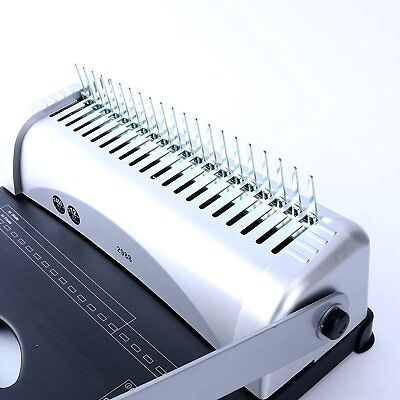 Binding Machine Paper Punch Binder with Starter Combs Set - 450 Sheets, 21 Hole 8