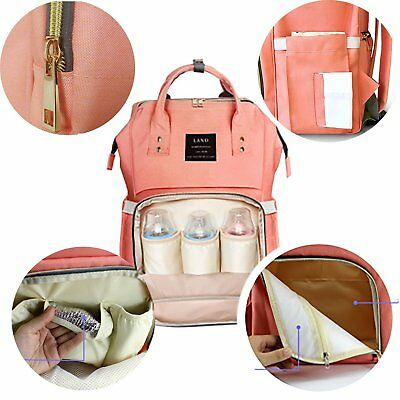 For LAND Mommy Baby Diaper Bag Large Capacity Mom Backpack Baby Nappy Tote Bag 10