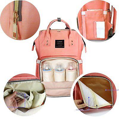LAND Waterproof Mommy Baby Diaper Bag Nappy Backpack + Stroller Hooks 10