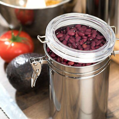 Stainless Steel Air Tight Canister 64 fl oz - Food & Coffee Storage Container 2