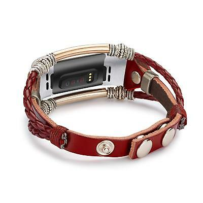 Unique Replacement Leather Wristband Band Strap Bracelet For Fitbit Charge 3 / 2 4