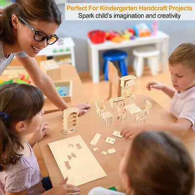Mini 3D Wooden Puzzle DIY 34 Pcs Miniature Dollhouse Furniture Models For Doll 3