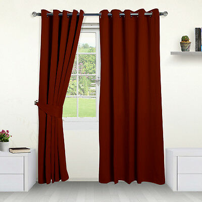 Thermal Blackout Curtains- Choose Ring Top Eyelet or Pencil Pleat. FREE Tiebacks 9