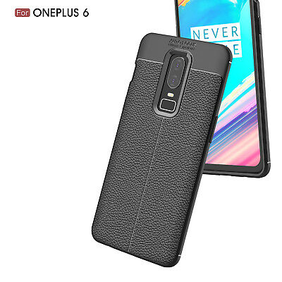 Dooqi Ultra Thin Luxury PU Leather Soft TPU Shockproof Case Cover For OnePlus 6 6