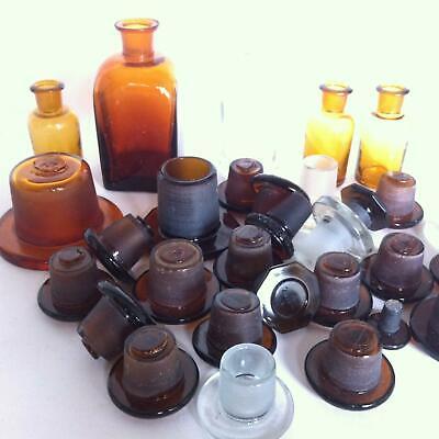 (b99) KONVOLUT Apothekerflaschen Deckel Apotheke Arzt Vorrat Stopfen Sammlung 2