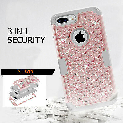 iPhone X 6 6S 8 7 Plus XS Max Case Hybrid Hard Heavy Duty Shockproof Armor Cover 12