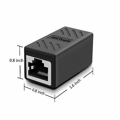 RJ45 Ethernet Coupler Adapter Connector Joiner Cable Extender For Cat 7 6 5 E 4