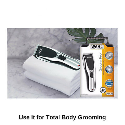 Wahl Cordless Rechargeable Professional Hair Clipper Shaver Trimmer Grooming Set 6