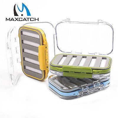Maxcatch wasserdichte Fliegenbox Schaumstoffreihen mit Mikro-Schlitzen