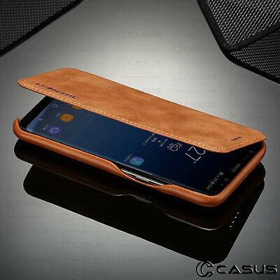 For Galaxy Note 10/9/8 S10/S9 Plus Leather Wallet Stand Thin Slim Case Cover 5
