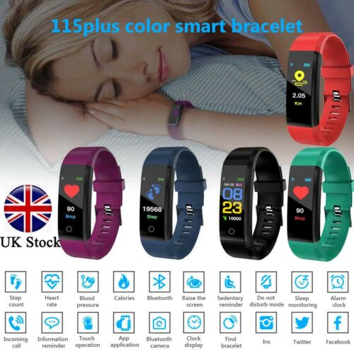 Fitness Smart Watch Activity Tracker WomenMen Kid Fitbit Android iOS Heart Rate# 3