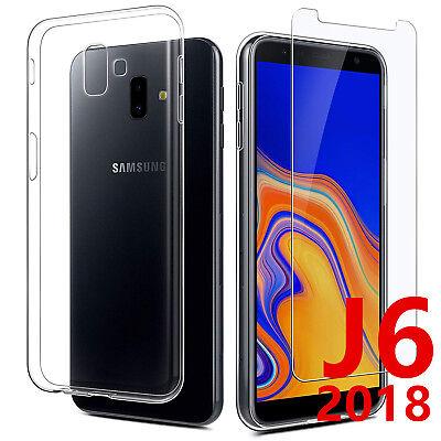 Vitre Protection Film Verre trempé écran Samsung J6 2018 J6 Plus+ Coque Silicone 2
