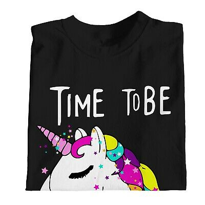 1Tee Womens Time To Be. A Unicorn Magical T-Shirt 4