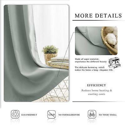 THERMAL BLACKOUT CURTAINS Eyelet Ring Top OR Pencil Pleat FREE Tie backs 8
