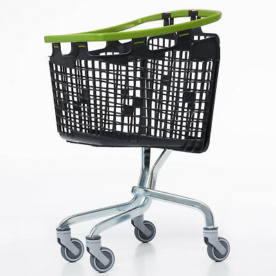 Green Shopping Trolley Small Supermarket Cart Araven Loop Trolley 100L 2