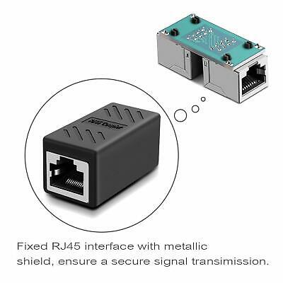 RJ45 Ethernet Coupler Adapter Connector Joiner Cable Extender For Cat 7 6 5 E 2